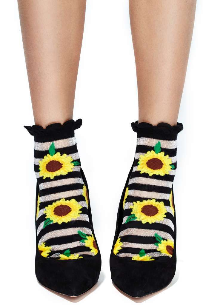 Sunflower ankle tattoos