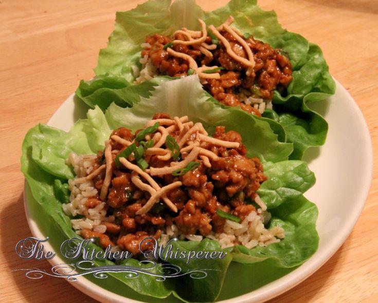 Asian Chicken Lettuce Cups | Recipe