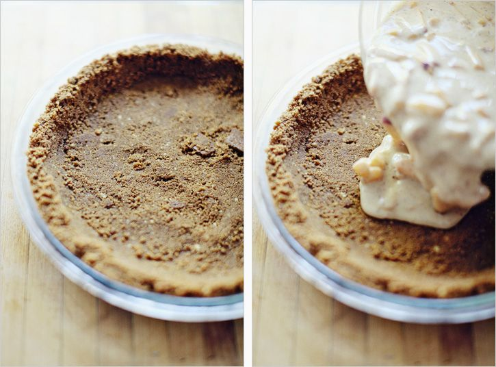 peach creme pie with gingersnap crust (maybe sub yogurt for the ...