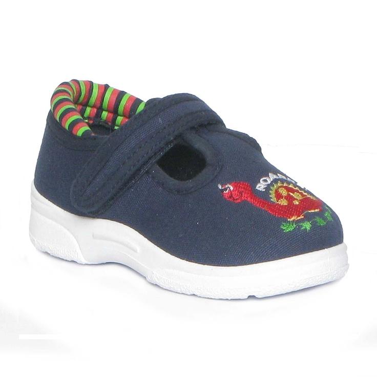 29109 Boys Navy T-bar Canvas Shoe 4.99 www.shoezone.com