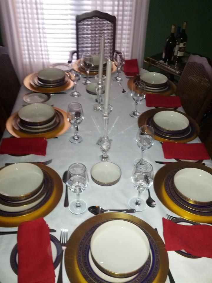 Table Setting For Lunch : Christmas lunch table setting  FORMAL OCCASION DECOR  Pinterest