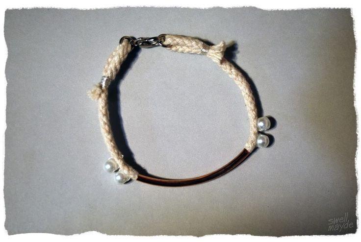 #DIY Rope Pearl Bracelet