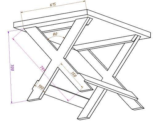 Деревянные столы своими руками чертежи