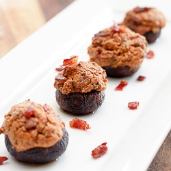 Goat Cheese Stuffed Mushrooms with Prosciutto and Sage