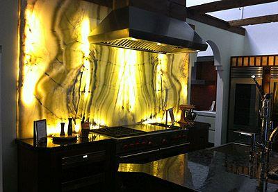 onyx backsplash modern kitchens pinterest