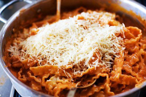 Pasta alla Vodka, add sundried tomatoes and use Classico pasta sauce ...