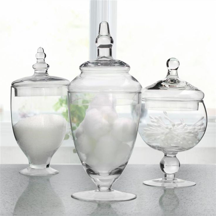 Bathroom Apothecary Jars : Ksp spa apothecary jars set of