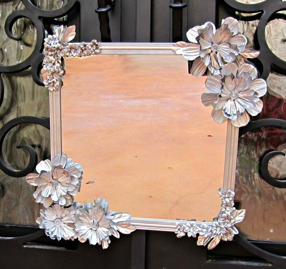Pin by abeer on diy pinterest for Dollar store mirror craft