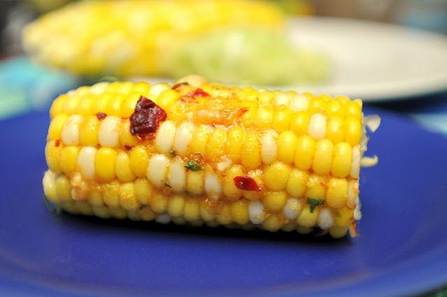 Corn on the cob with chipotle lime infused coconut butter