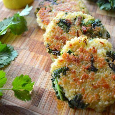 Quinoa Patties, Panko, Quinoa, eggs, parmesan, sub bell pepper for ...