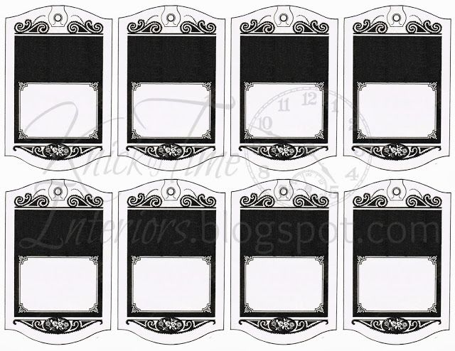 Printable Hang Tags-Gift Tags-Black Wrapping Paper-Royalty Free ...