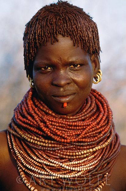 Africa | Bumi tribeswoman, Murle Region, Ethiopia | ©Art Wolfe