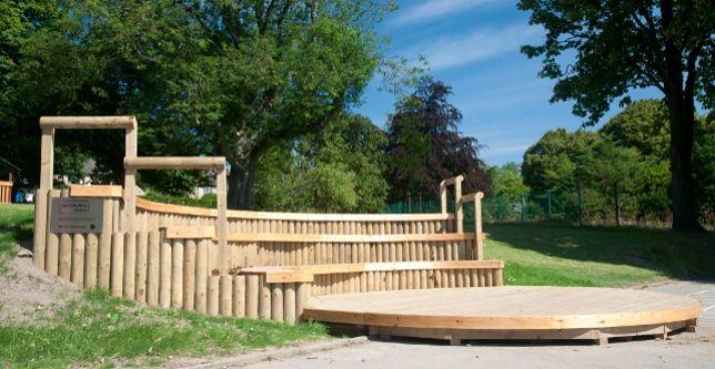 stage outdoor backyard pinterest