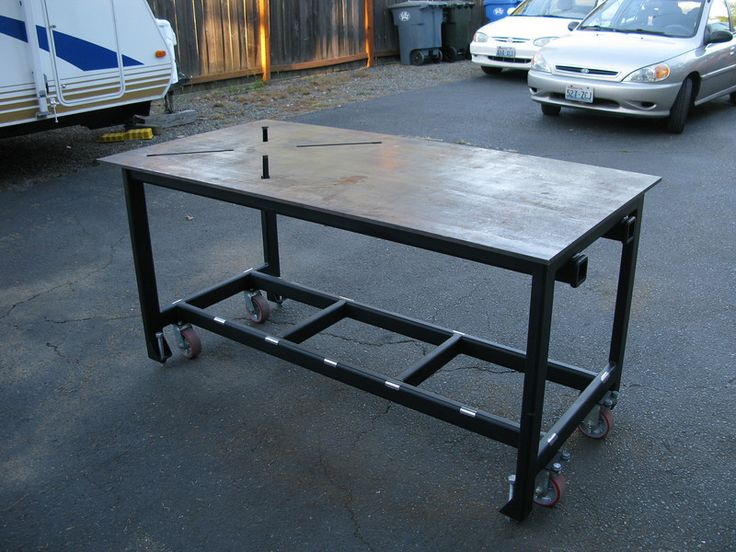 Pin by darroll reddick on welding shop table pinterest - Plan fabrication table ...