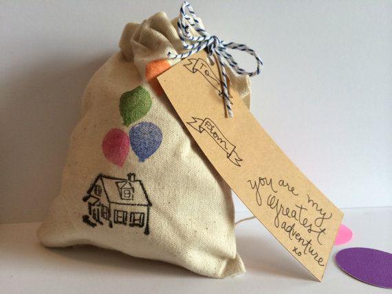 Canvas Stamped Gift Bag Wedding Favor Bride Groom Disney Wedding ...
