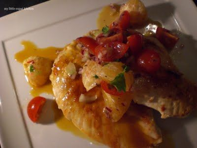 Chicken Breasts with Clementine Salsa. Mmmm Yes please!!!