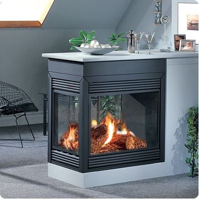 peek a boo gas fireplaces. Will be in bedroom and can see in bathroom. Awesome.