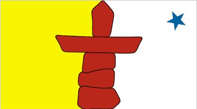 nunavut flag colors