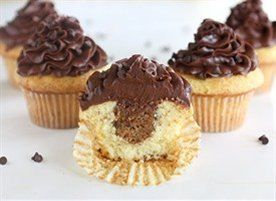Almond Chocolate Chip Cookie Dough Cupcakes | Recipe