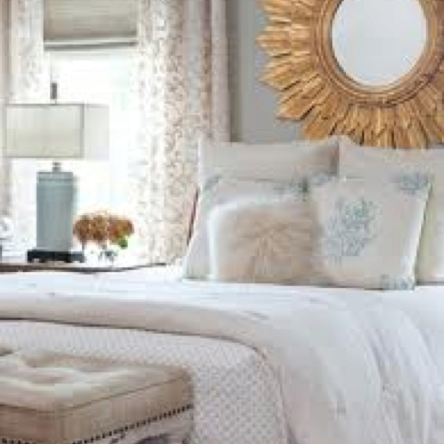 Blue white gray gold bedroom sleeping quarters pinterest for Blue and gold bedroom ideas