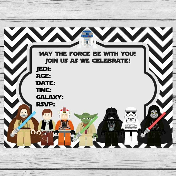 On Sale Lego Star Wars Invite Invitations Instant download Printable ...