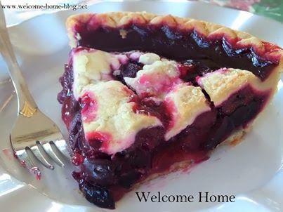 Black Cherry Cobbler Pie | I like FOOD !! - Sweets | Pinterest