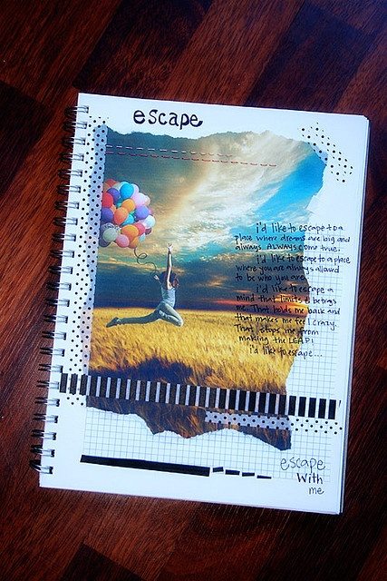 simple but cool pages.. Art Journal