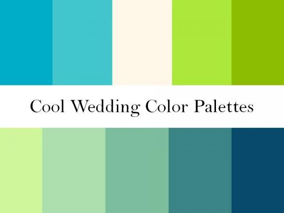 Blue and Green Wedding Color Palettes