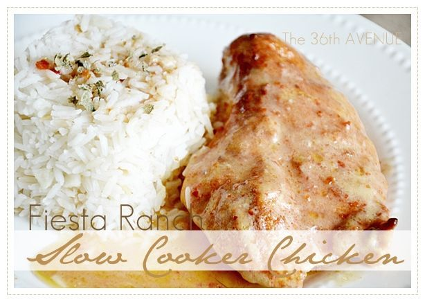 Slow Cooker Fiesta Ranch Chicken... We are talking about easy, creamy ...