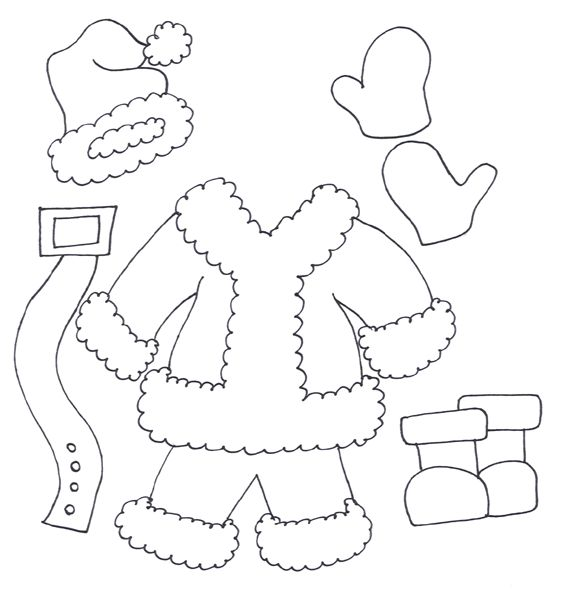 santa claus clothes coloring pages printable games