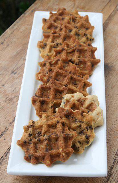 Waffled Chocolate Chip Oatmeal Cookies by Food Librarian, via Flickr