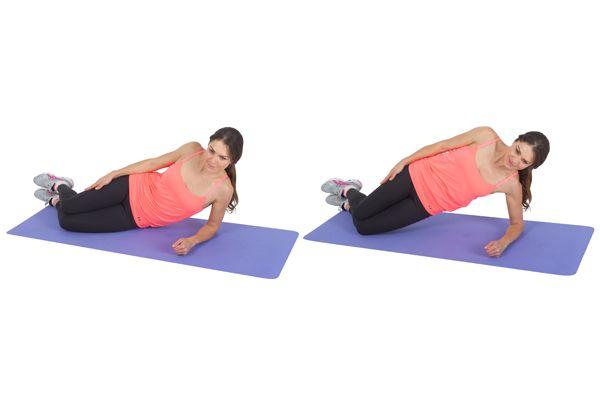 Side Lying Plank 28 Day Challenge Exercises Pinterest