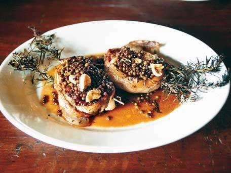 Pan-Seared Pork Chops with Green Peppercorn Sauce | Recipe