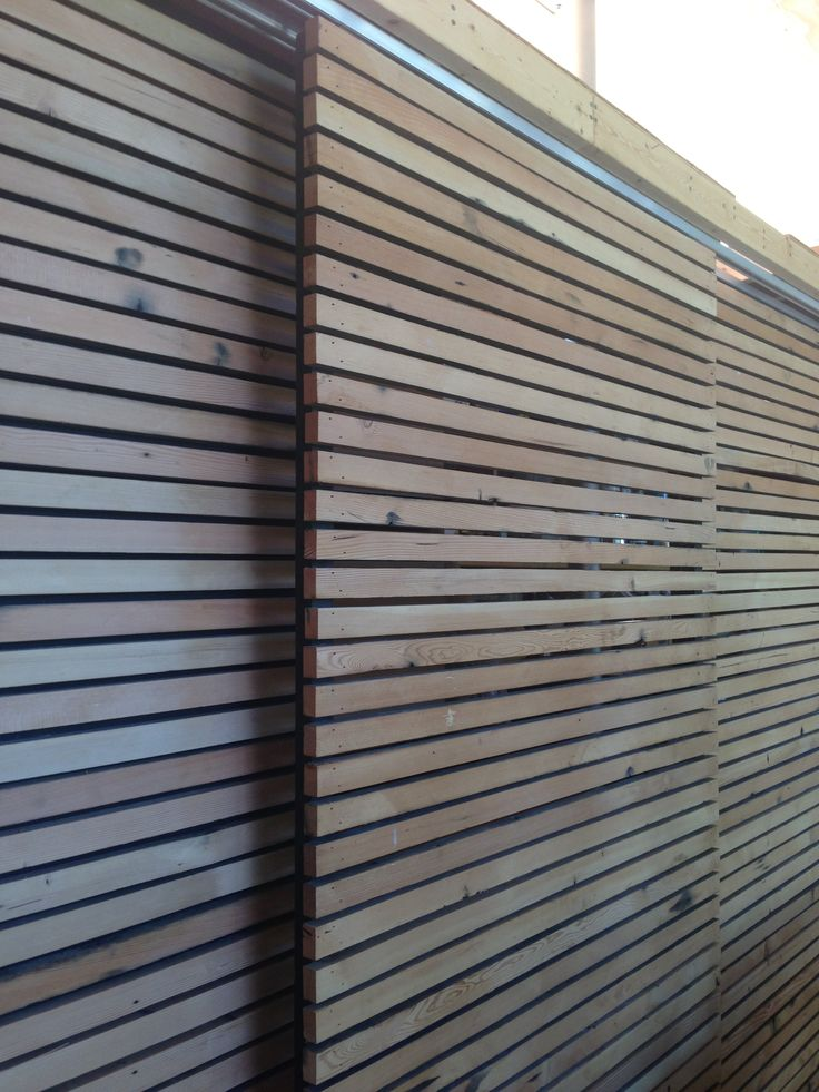 Sliding screens fencing pinterest for Sliding timber screens