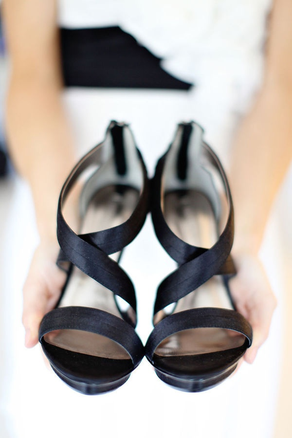 Black and white wedding - shoes/ heels, bridesmaid shoes