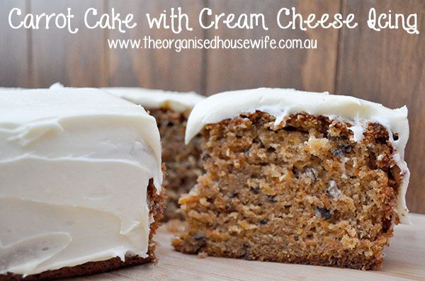 Carrot Cake with Cream cheese Frosting | Recipe