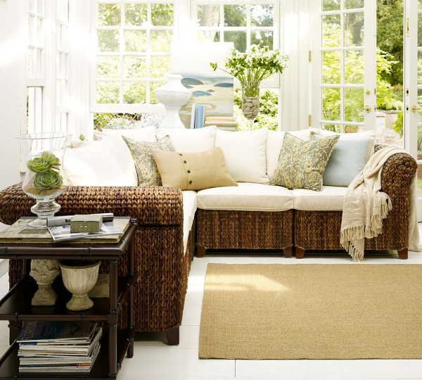 Sunroom seagrass furniture ideas new back porch and for Sun room furniture ideas