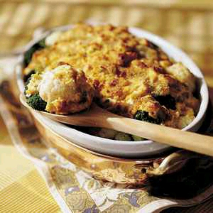 Broccoli-and-Cauliflower Gratin | Recipes - Savory | Pinterest