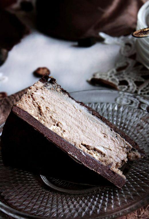 Chocolate and Coffee Foamy Cheesecake | Food | Pinterest