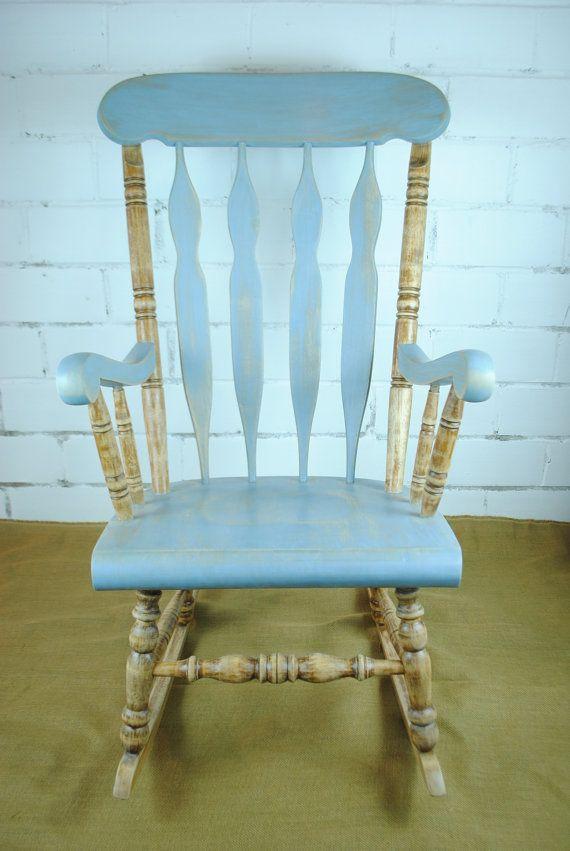 Repurposed vintage rocking chair distressed look rocking chair