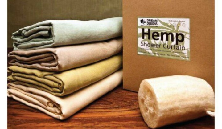 Hemp shower curtain | Buy THis | Pinterest