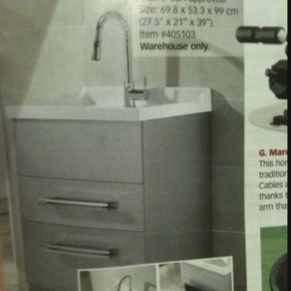 ... laundry sink! Costco warehouse only. Page 57 in the Jan/Feb Costco