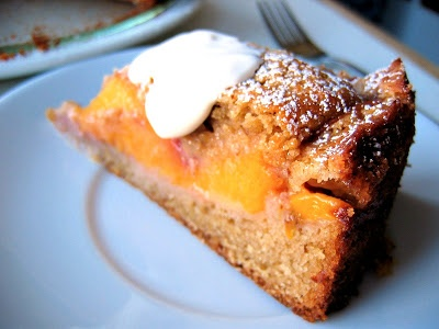 Vanilla Brown Butter Peach Buckle | Dessert Deliciousness | Pinterest