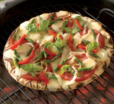 Grilled Vegetable And Smoked Fontina Pizza Recipe — Dishmaps