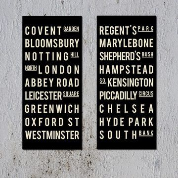 London by Going Underground. If you are going to get some of these, get these. The others have such poor typography they don't even deserve to exist.