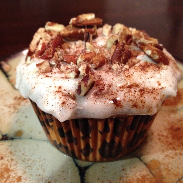 ... delicious carrot cupcake recipe that adheres to the Paleo Diet. YUM