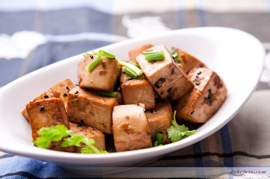 sesame pan-fried tofu | epicurean delights | Pinterest
