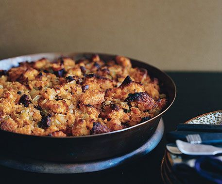 Corn-Bread and Chorizo Stuffing. | What to eat | Pinterest