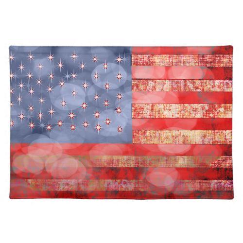 american flag faded