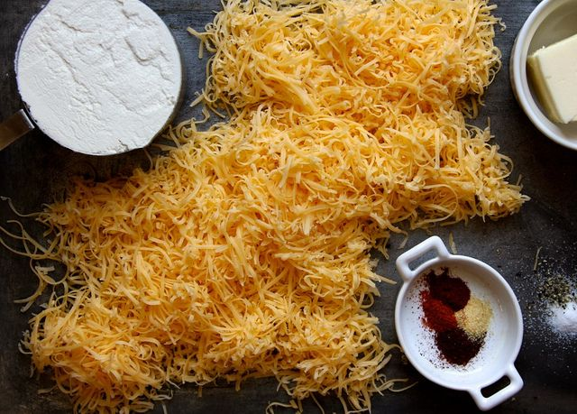 sharp cheddar cheese crackers by joy the baker, via Flickr